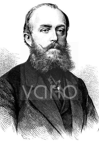 Freiherr Clemens August Heereman von Zuydwyck, 1832 - 1903, Reichs - und Landtagsabgeordneter, historischer Stich, ca. 1889