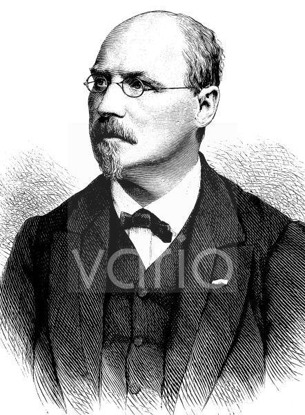 Joseph Joachim Raff, 1822 - 1882, ein deutscher Komponist und Musikpädagoge schweizerischer Herkunft, historischer Stich, ca. 1889