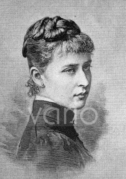 Prinzessin Elisabeth Alexandra Luise Alice von Hessen-Darmstadt und bei Rhein, Großfürstin Jelisaweta Fjodorowna Romanowa, 1864 - 1918, historischer Stich, ca. 1889