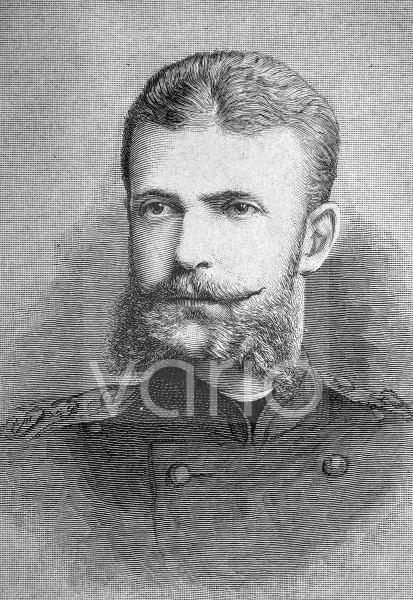 Großfürst Sergei Alexandrowitsch Romanow, 1857 - 1905, ein Mitglied der russischen Regierung aus dem Hause Romanow-Holstein-Gottorp, historischer Stich, ca. 1889