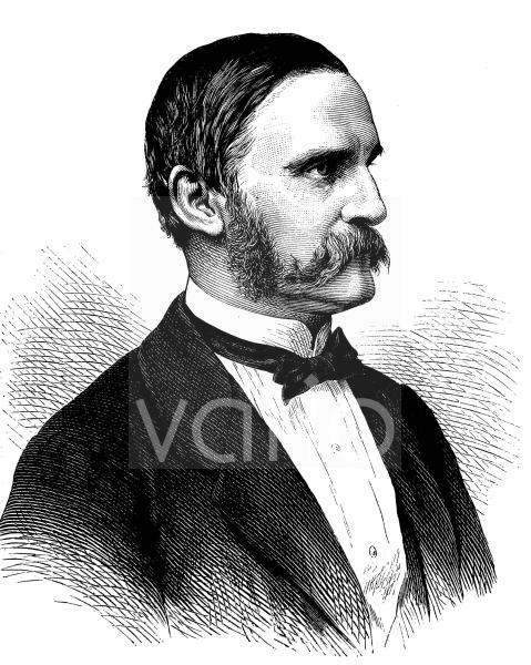 Alfred Ritter von Arneth, 1819 - 1897, ein österreichischer Historiker und Politiker, historischer Stich, ca. 1889