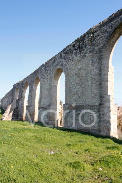 Der historische Kamares-Aquädukt bei Larnaka, Südzypern, Zypern, Europa