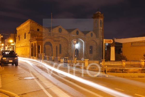 Alte Kirche Agios Savvas bei Nacht, Nicosia, Nikosia, Zypern
