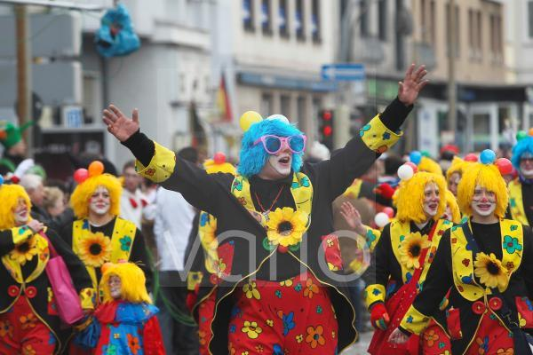 Karneval, Rosenmontagszug, Koblenz, Rheinland-Pfalz, Deutschland, Europa