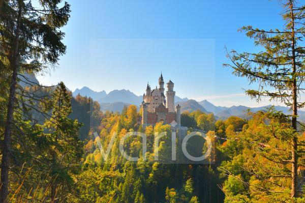 Schloss Neuschwanstein bei Füssen, Allgäu, Bayern, Deutschland, Europa
