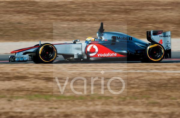 Lewis Hamilton, GB, McLaren-Mercedes MP4-27, Formel 1 Testfahrten, Februar 2012, Barcelona, Spanien, Europa