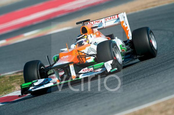 Nico Hülkenberg, GER, Force India-Mercedes VJM05, Formel 1 Testfahrten, Februar 2012, Barcelona, Spanien, Europa