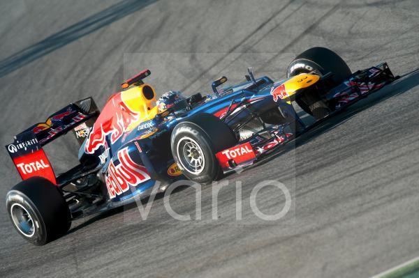 Sebastian Vettel, GER, Red Bull Racing-Renault RB8, Formel 1 Testfahrten, Februar 2012, Barcelona, Spanien, Europa