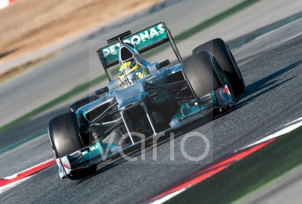 Nico Rosberg, GER, Mercedes AMG-Mercedes F1 W03, Formel 1 Testfahrten, Februar 2012, Barcelona, Spanien, Europa