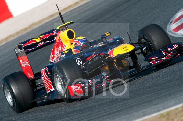 Mark Webber, AUS, Red Bull Racing-Renault RB8, Formel 1 Testfahrten, Februar 2012, Barcelona, Spanien, Europa