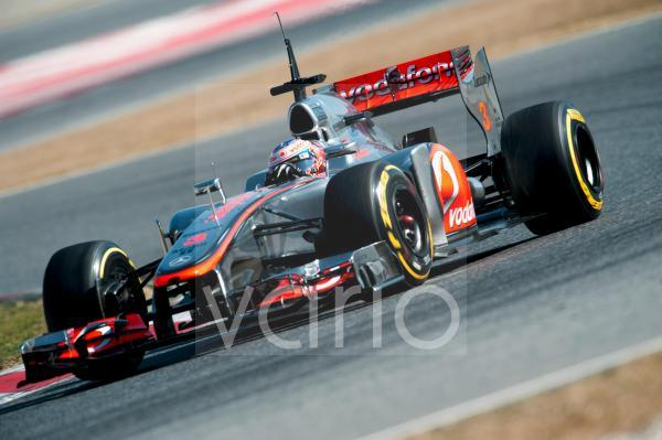Jenson Button, GB, McLaren-Mercedes MP4-27, Formel 1 Testfahrten, Februar 2012, Barcelona, Spanien, Europa