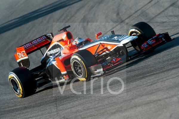Timo Glock, GER, Marussia F1 Team-Cosworth, Formel 1 Testfahrten, Februar 2012, Barcelona, Spanien, Europa