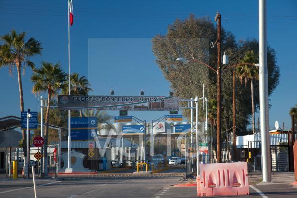 Der internationale Grenzübergang nach Sonoyta, Sonora, Mexiko, in Lukeville, Arizona, USA