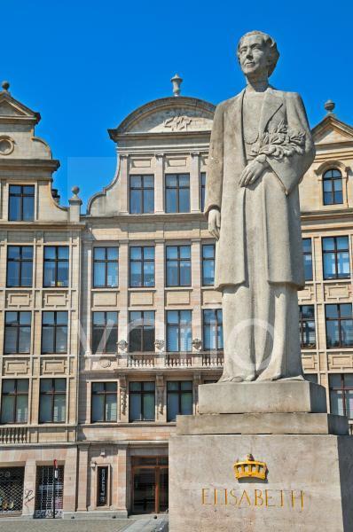 Denkmal Königin Elisabeth, Place de l'Albertine, Brüssel, Belgien, Europa, ÖffentlicherGrund