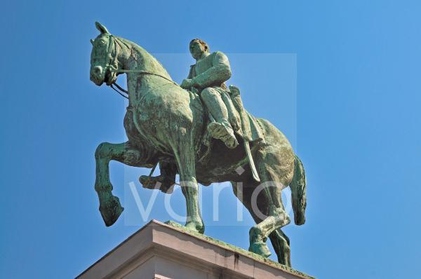 Reiterstatue König Albert I., Place de l'Albertine, Brüssel, Belgien, Europa, ÖffentlicherGrund