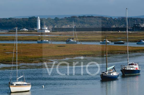 Salt marshes, Hurst Spit, Keyhaven, Hampshire, England, United Kingdom, Europe