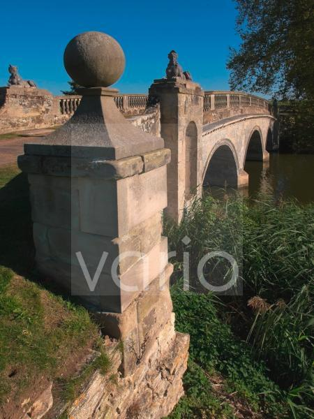 Robert Adam bridge, Compton Verney estate, Warwickshire, England, United Kingdom, Europe