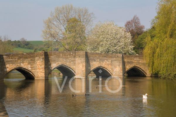 Bakewell bridge and River Wye, Derbyshire, England, United Kingdom, Europe