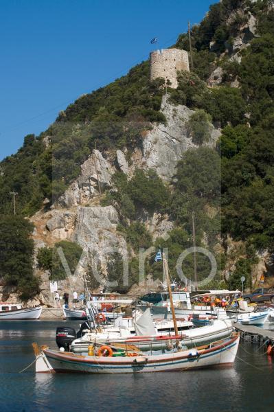 Vathy harbour, Ithaca, Ionian Islands, Greek Islands, Greece, Europe