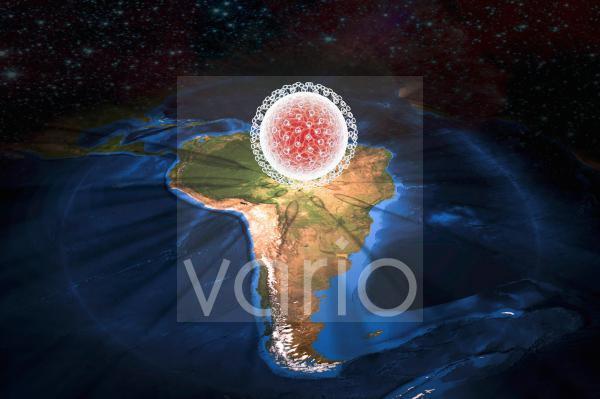 Zika virus in Brazil, illustration