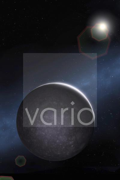 Artwork of Jovian Moon Callisto