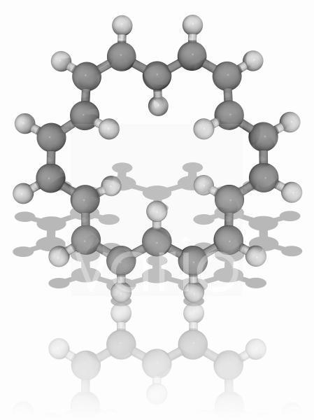 18-annulene organic compound molecule