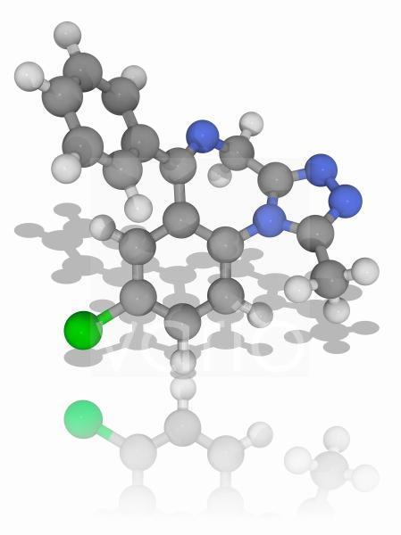 Alprazolam drug molecule