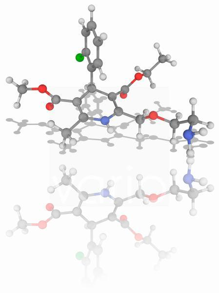 Amlodipine drug molecule