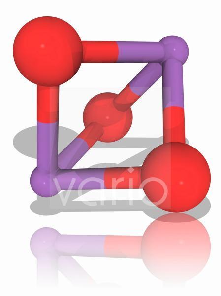 Arsenic trioxide inorganic compound molecule