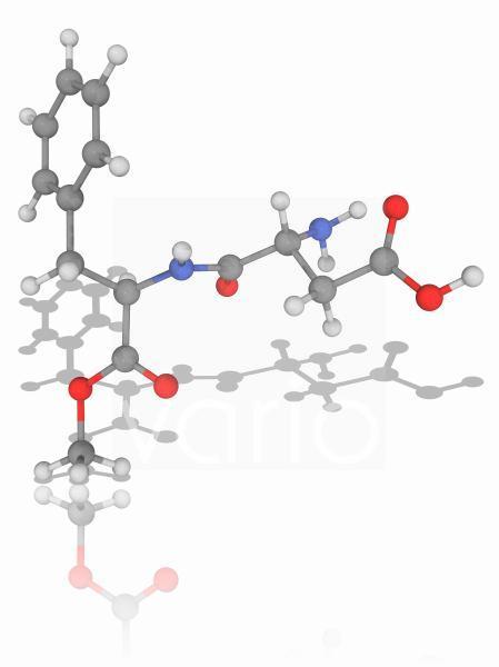 Aspartame organic compound molecule