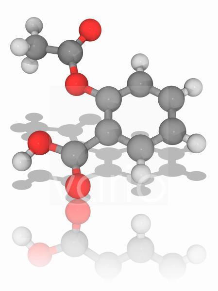 Aspirin drug molecule