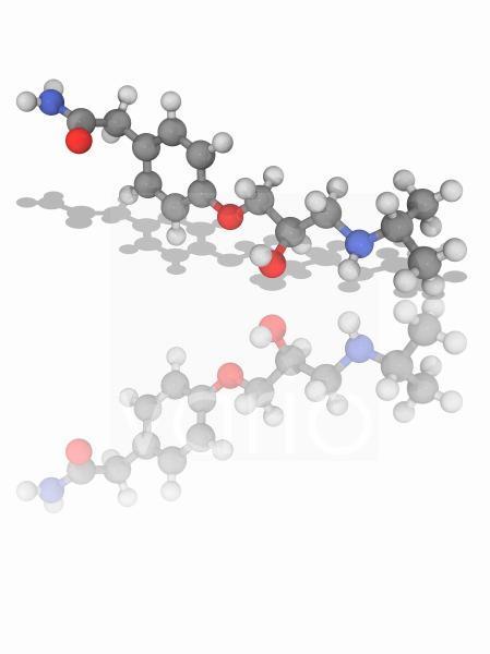 Atenolol drug molecule