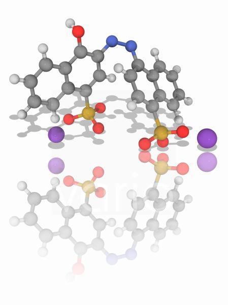 Azorubine organic compound molecule