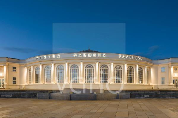 The Winter Gardens Pavilion on the seafront of the English seaside town of Weston-super-Mare.