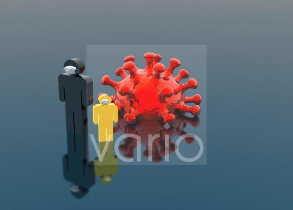 Coronavirus infection control, conceptual illustration