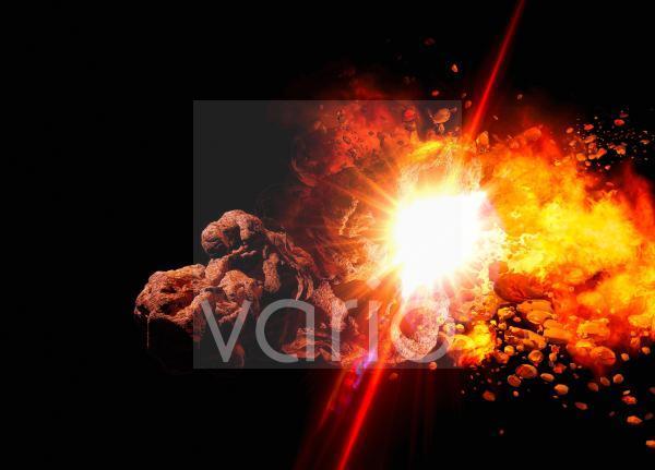 Asteroid impact, illustration