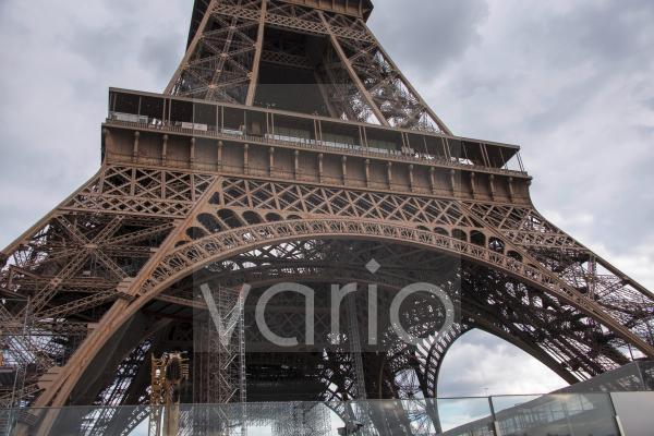Eiffelturm, Detailaufnahme, Paris, Île-de-France, Frankreich, Europa