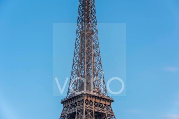 Mittelteil des Eiffelturms, Paris, Île-de-France, Frankreich, Europa
