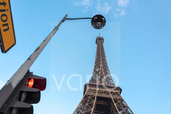 Ampel am Paris, Île-de-France, Frankreich, Europa