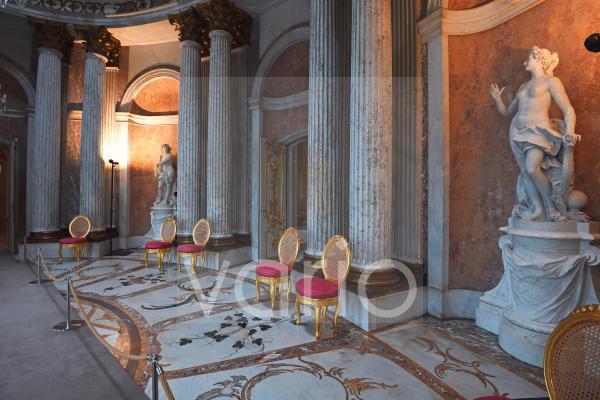 Marmorsaal, Schloss Sanssouci, Park Sanssouci, Potsdam, Brandenburg, Deutschland, Europa