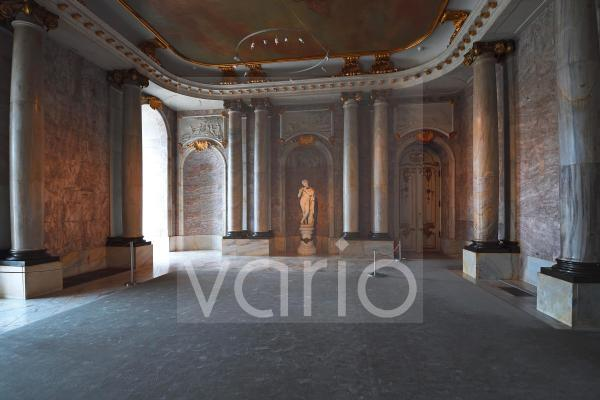 Unteres Vestibül, Neues Palais, Park Sanssouci, Potsdam, Brandenburg, Deutschland, Europa