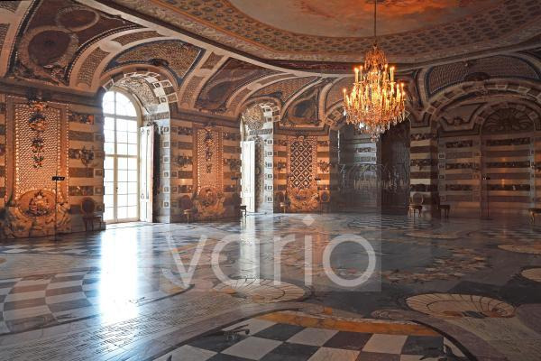 Grottensaal, Neues Palais, Park Sanssouci, Potsdam, Brandenburg, Deutschland, Europa