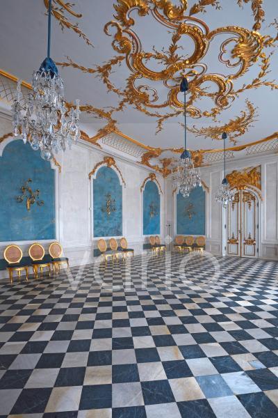 Blaue Galerie, Neue Kammern, Schloss Sanssouci, Potsdam, Brandenburg, Deutschland, Europa