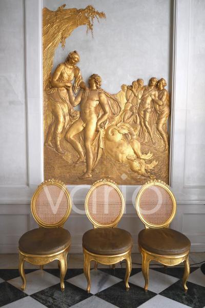 Relief, Ovidgalerie, Spiegelgalerie, Neue Kammern, Schloss Sanssouci, Potsdam, Brandenburg, Deutschland, Europa