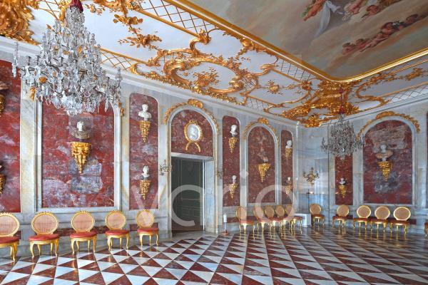 Jaspissaal, Neue Kammern, Schloss Sanssouci, Potsdam, Brandenburg, Deutschland, Europa