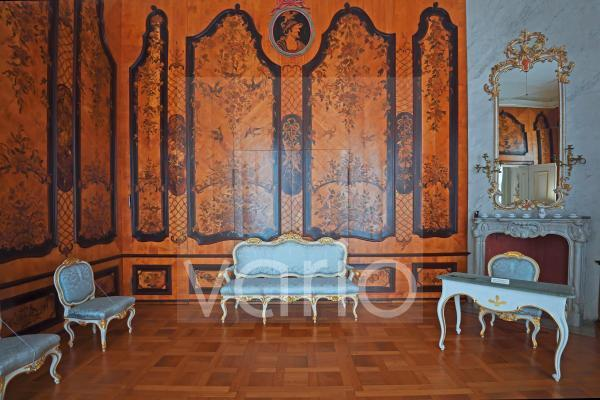 Gästezimmer, Neue Kammern, Schloss Sanssouci, Potsdam, Brandenburg, Deutschland, Europa
