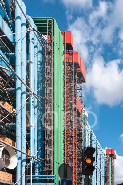 Centre Georges Pompidou, 1977 fertiggestellt, Paris, Frankreich, Europa