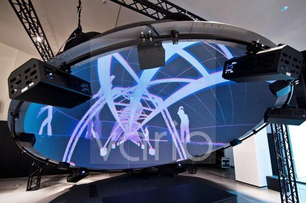 Fulldome, Kuppel für 360 Grad Filme, Dortmunder U, Zentrum für Kunst und Kreativität, Dortmund, Ruhrgebiet, Nordrhein-Westfalen, Deutschland, Europa