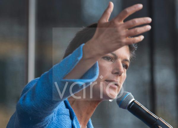 Bundestag election 2021. Sarah Wagenknecht (party The Left) in Bonn.