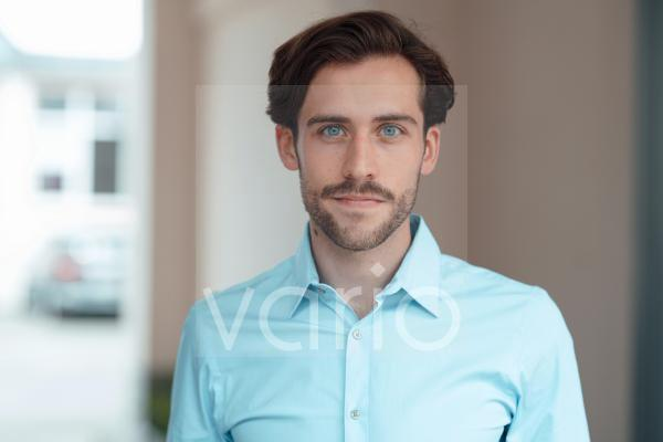 Young male professional in office
